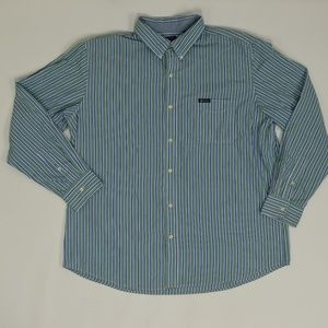Chaps Easy Care Big & Tall XXL Green   Button Down